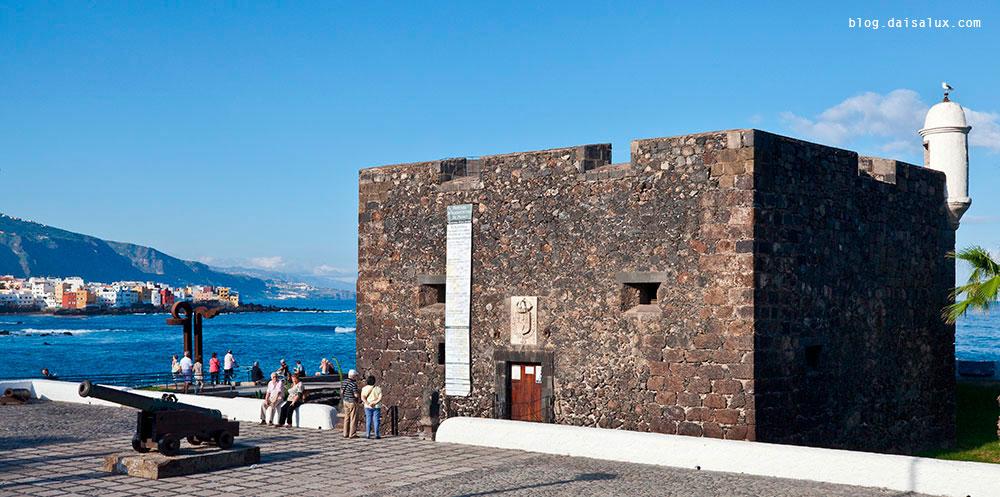 Vista exterior del Castillo de San Felipe (tenerife) antes de la reforma